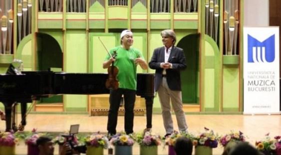 Violonistul rus Maxim Vengerov a susţinut un recital la finalul Şcolii de Vară Cantus Mundi Bucureşti