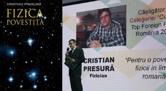 Fizicianul Cristian Presură va primi Medalia de Onoare a Societății de Științe Matematice din România