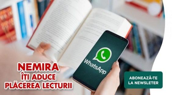 Editura Nemira lansează newsletter-ul Plăcerea lecturii pe WhatsApp