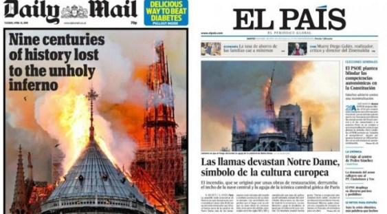 Incendiu la Notre-Dame. Primele vești bune: interiorul este mai puțin afectat
