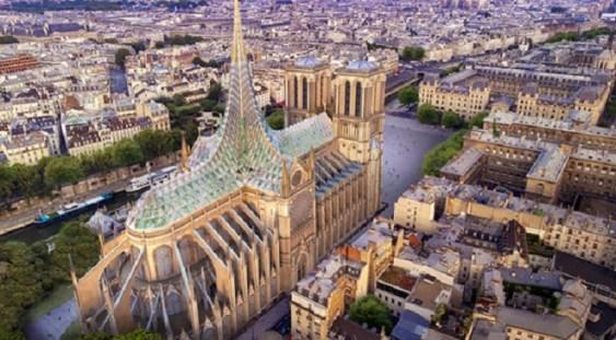 FOTO   Restaurare Notre Dame: O propunere plasează o grădină şi o fermă pe acoperişul catedralei