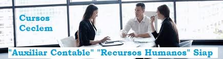 cursos auxiliar contable y recursos humanos siap ceclem