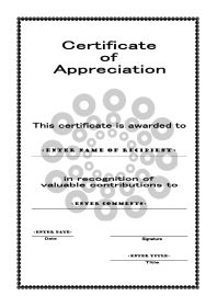 Certificates of Appreciation 005