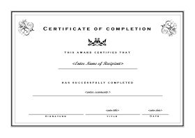 Certificate of Completion 102