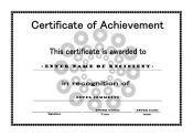 Certificate of Achievement 005