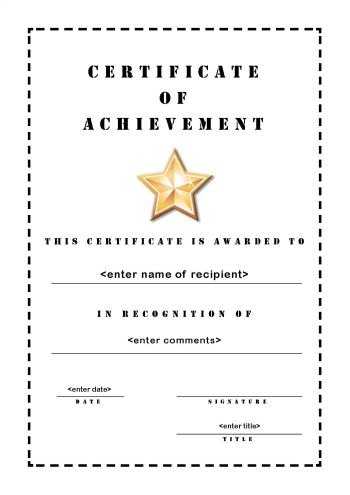 Certificate of Achievement 103