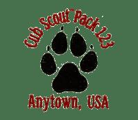 Cub Scout Pack Design  EB776 Paw Print