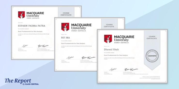 Coursera Course Certificates