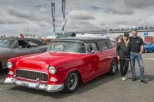 John & Sandra Hayfield - 1955 Chevy Momad Red 383 Stroker