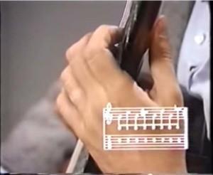 classical guitar lesson - left hand position