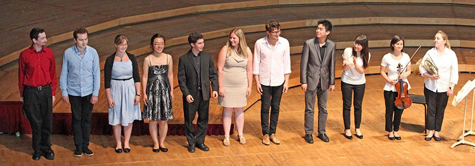 TMC Composition Fellows and performers (Hilary Scott photo)