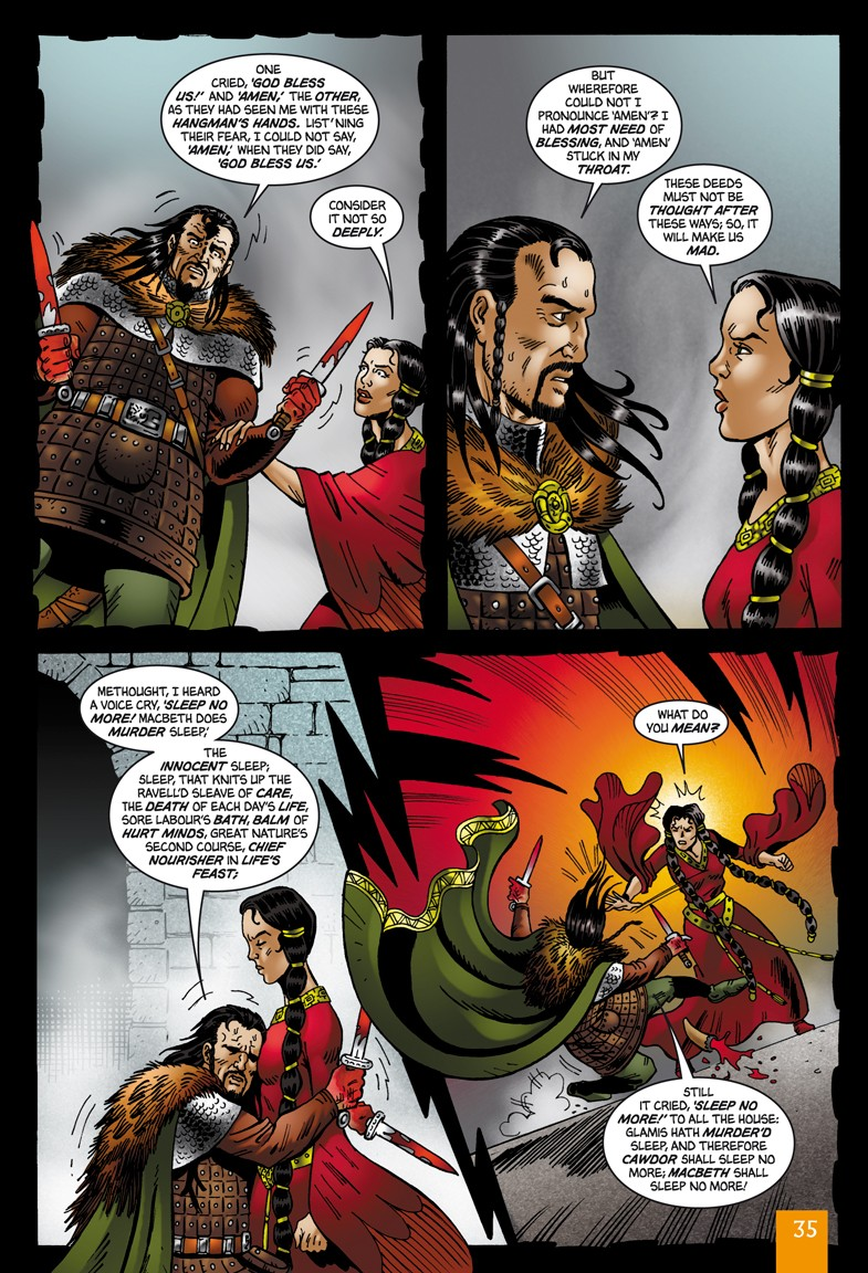 Macbeth  Original Text  Graphic Novel Library binding  Classical Comics