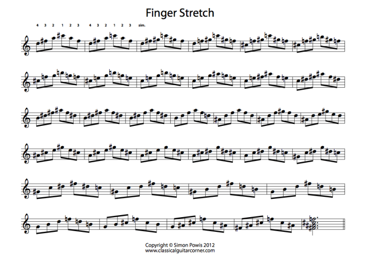 Classical Guitar Corner - Simon Powis Finger Stretch