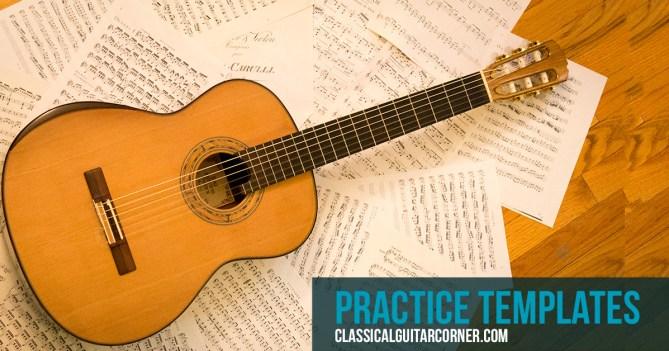 Classical Guitar Practice Templates