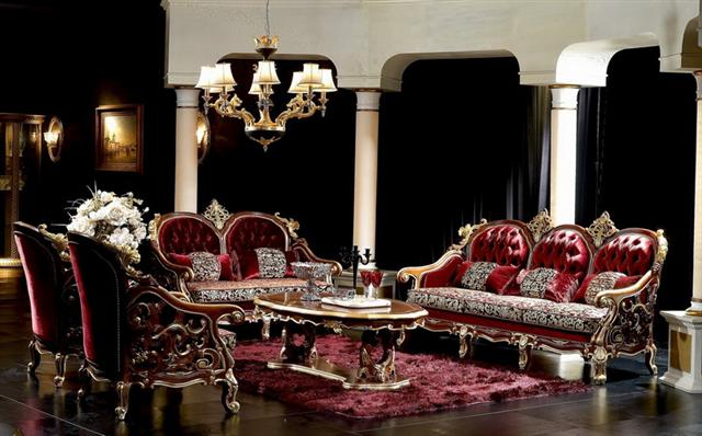 Royal Italian Capitone Living Room Victorian StyleTop and Best Italian Classic Furniture