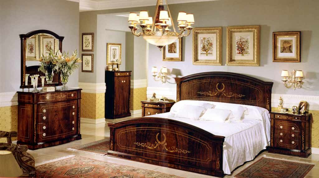 Walnut Bedroom Set In Spanish Style Design Top and Best