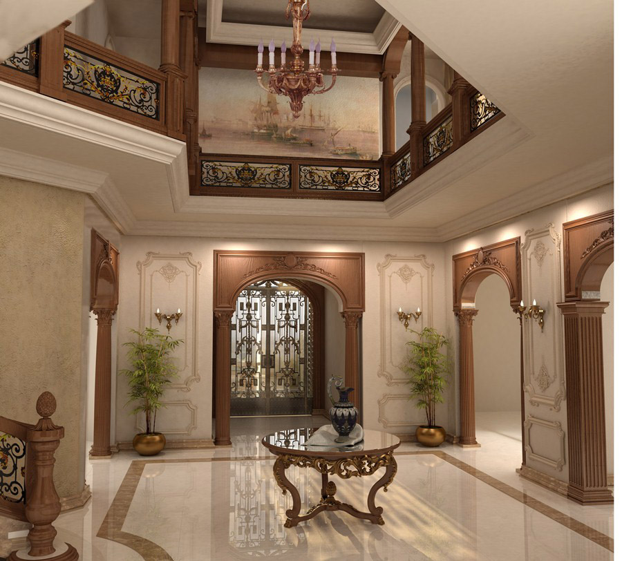 Ahmed Abo Ahmed Villa Interior and Exterior design Project IdeaTop and Best Italian Classic