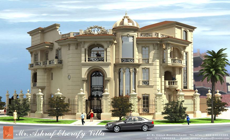 Ashraf El Serafey Villa Interior And Exterior Design