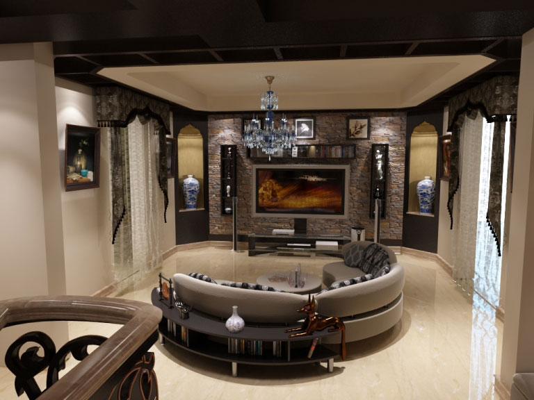 Ahmed Mekey Villa Interior Design Project IdeaTop And
