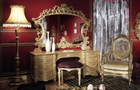 Bedroom In Italian Style Finished with Antique Gold ...