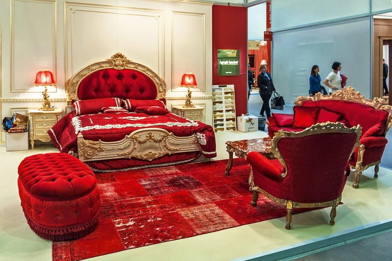 Red Italian Style Bedroom FurnitureTop and Best Italian Classic Furniture