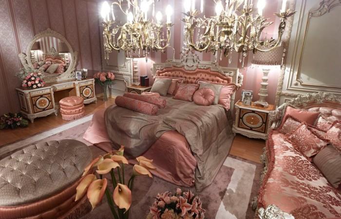 Pink Classic Style Italian BedroomTop and Best Italian