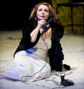 Soprano Soprano Nuccia Focile in Poulenc's La Voix Humaine (Photo: Tristram Kenton)