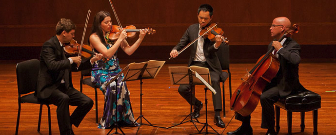 Violinists James Ehnes and Amy Schwartz Moretti, violist Richard O'Neill, and cellist Robert deMaine (Photo: SCMS)