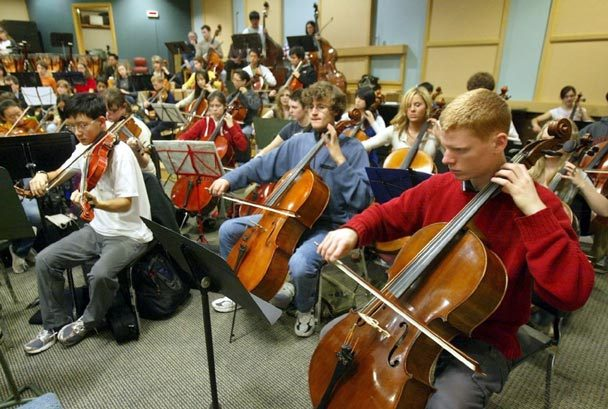 The Seattle Youth Symphony Orchestra rehearses for a performance (Photo: Thomas James Hurst)