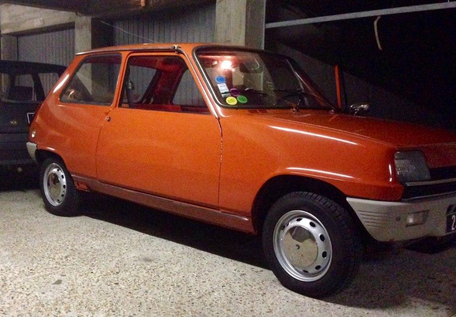 Location Renault R5 TL 1974 Orange 1972 Orange Paris