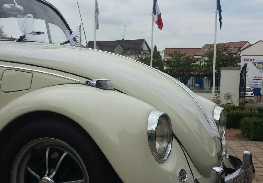 Location Volkswagen Coccinelle 1968 Blanc cass 1968 Blanc