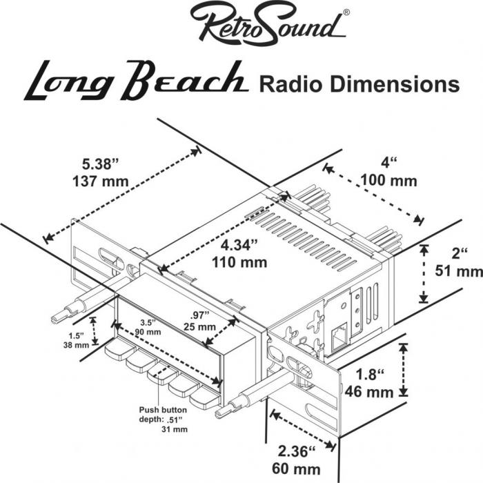RetroSound 1964-66 Ford Thunderbird Long Beach Radio