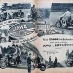 Motorrijden in de jaren 50 - Jawa reclame
