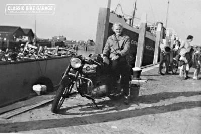 Motorrijden in 1955 - Op de geleende BSA