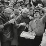 Haring eten in de 50-er jaren