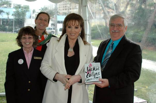 Jackie Collins.jpg 7 with staff