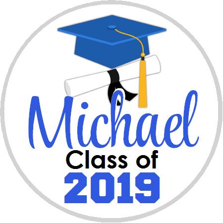 graduation royal blue cap