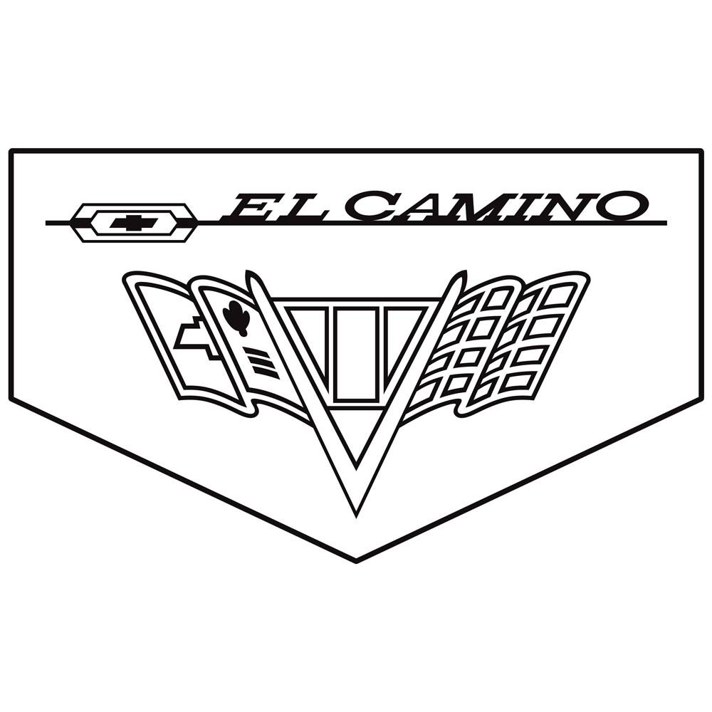 1966 El Camino Floormats, Block Letters w/ SS 396, Bowtie