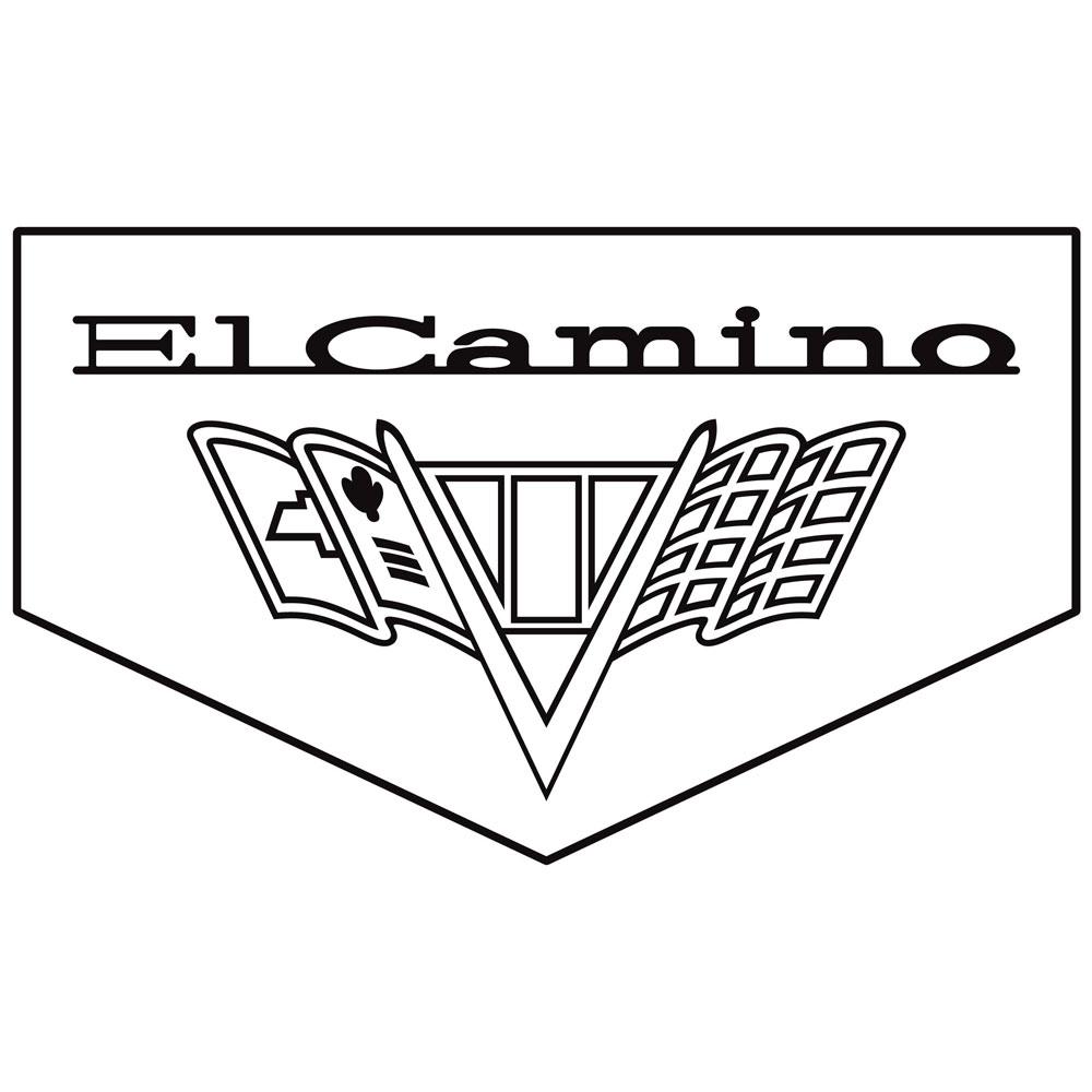 1967 El Camino Floormats, Block Letters w/ SS 396, Bowtie