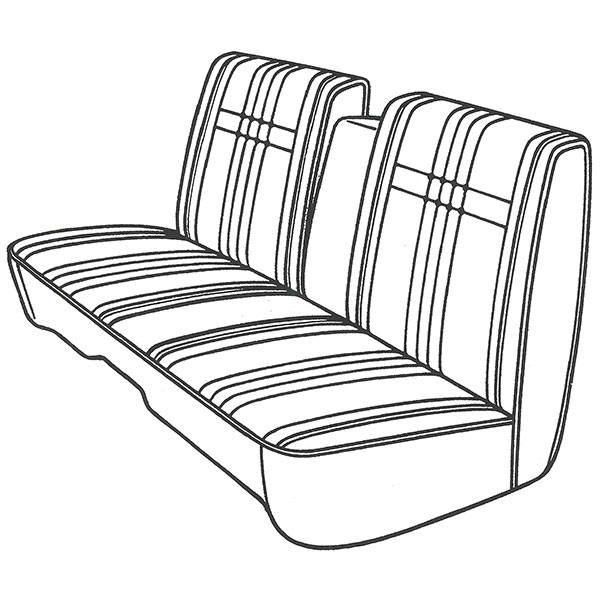 1968 Plymouth Fury III Wagon Front Split Bench Seat Cover