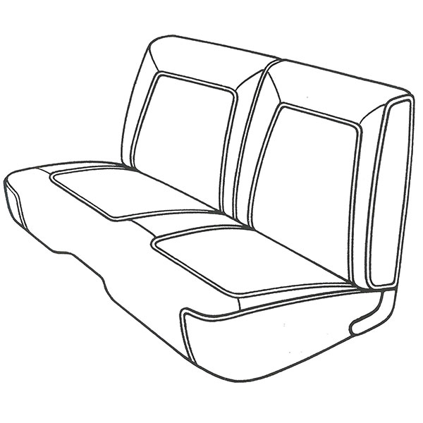 1968 Plymouth Belvedere/Road Runner Front Split Bench Seat