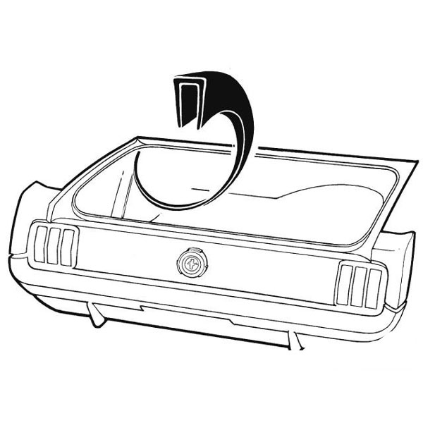 1964 Mustang Trunk Parts: Classic Car Interior