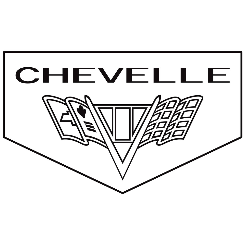 Legendary 1966-67 Chevelle Floor Mats, Block Letters, Flag