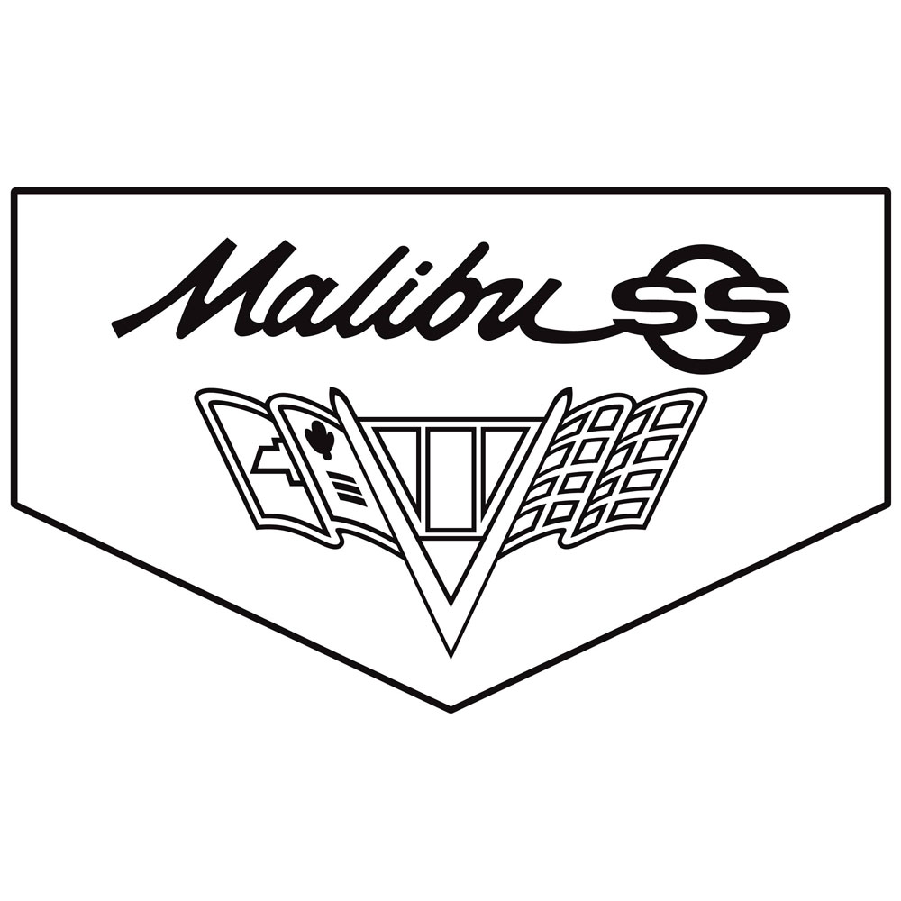 Legendary 1965 Malibu Floor Mats, Script Letters, SS, Flag