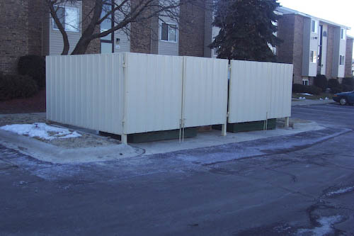 Metal Structures Gallery  Dumpster Enclosures Standing Seam Roofs  More