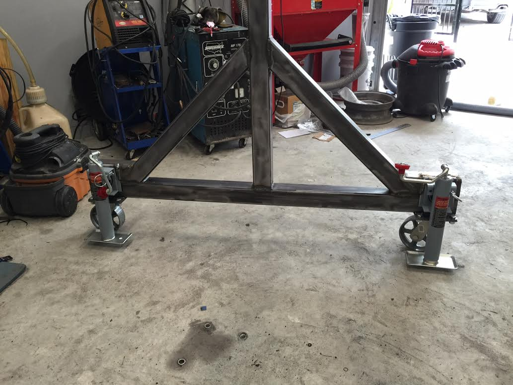 Jib Crane Wheels : Homemade gantry crane classic cars and tools