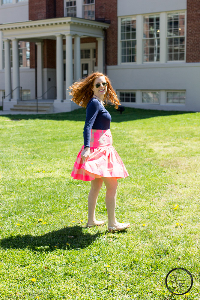 Bright Buffalo Check Taffeta Skirt on Sale