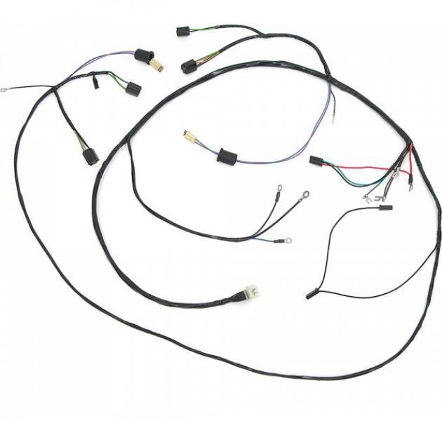 Full Size Chevy Headlight & Generator Wiring Harness, 6