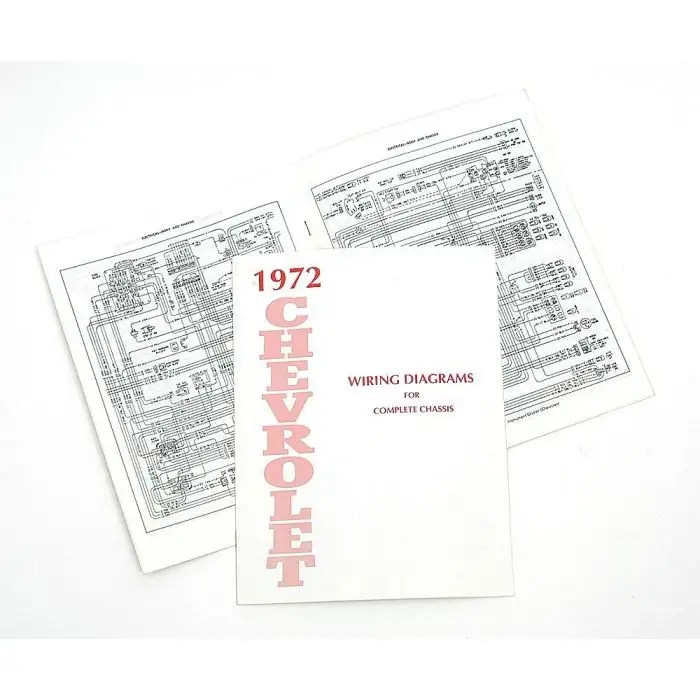 Full Size Chevy Wiring Harness Diagram Manual, 1972