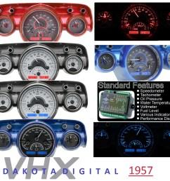 1957 dakota digital new gauges new parts 1957 dakota digital new gauges 57 chevy under hood wiring harness  [ 1040 x 950 Pixel ]
